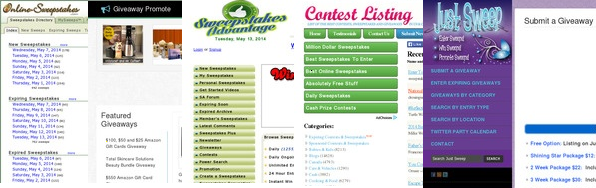 Top sweepstakes, contests and giveaway sites