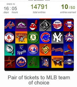 MLB Ticket Giveaway Promotion