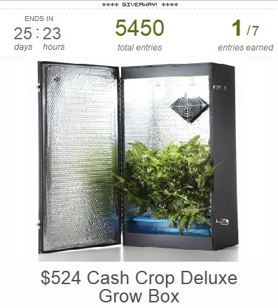 Hydroponics Online Store Giveaway Promotion